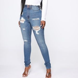 Medium blue- heavy lifting jeans